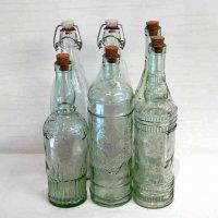 スペイン製・ガラス瓶・6本セット