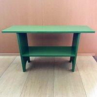 木製・棚・緑・2段