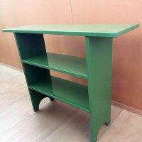 木製・棚・緑・3段