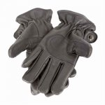 PRISM Gloves Black Mサイズ プリズム ロデオ グローブ ブラックレザー 革 手袋 アメリカ アメリカン バイク ハーレー フリース裏地 シンチロープ