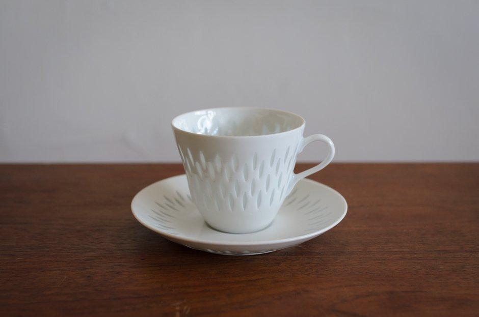 Arabia アラビア Rice Pocelain コーヒーカップ&ソーサー 0.16L Friedl Holzer Kjellberg