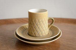 Relief レリーフ トリオセット コーヒーカップ&ソーサー&17cmプレート #1 Jens.H.Quistgaard