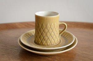 Relief レリーフ トリオセット コーヒーカップ&ソーサー&17cmプレート #2 Jens.H.Quistgaard