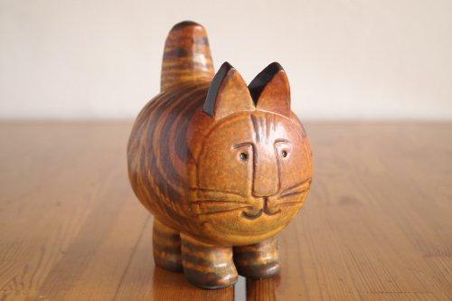 Gustavsberg Lisa Larson Cat  リサラーソン アフリカ 猫