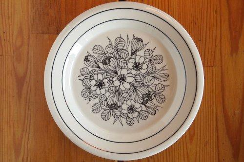 ARABIA KROKUS 17cm Plate BW/Esteri Tomula/アラビア クロッカス プレート