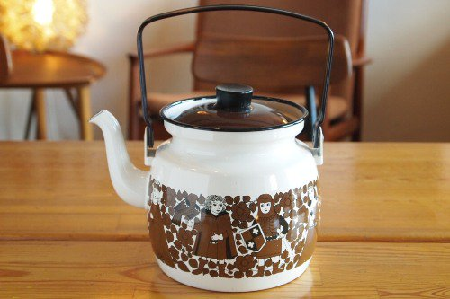 FINEL �ե��ͥ� Knight & Flower Enamel Pot/���ʥ�� ���� �ݥå� �䤫��