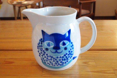 ARABIA CAT PITCHER KL-2/アラビア 猫柄ピッチャー