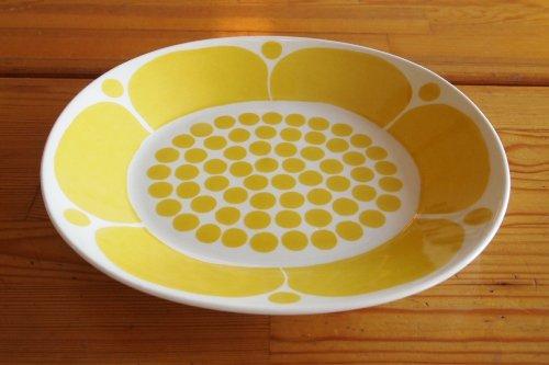 Arabia Sunnuntai Yellow 23cm Plate アラビア サンヌンタイ オーバル皿 カイピア