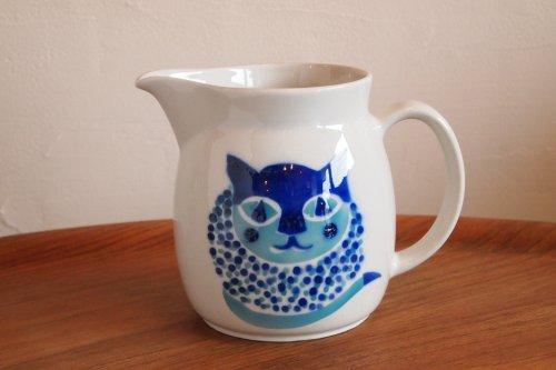 ARABIA Blue CAT PITCHER KL-2/アラビア 猫柄ピッチャー