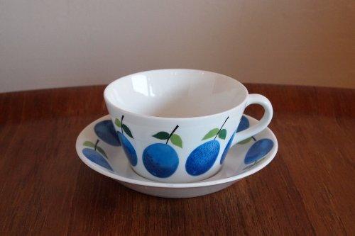 Gustavsberg Prunus Tea c&s/stig lindberg/グスタフスベリ プルヌス ティーカップ&ソーサー