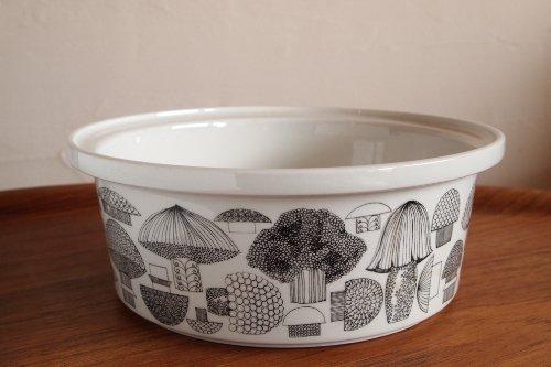 ARABIA Tatti Ceramic Bowl L Φ24.5cm/Esteri Tomula/アラビア キノコ柄 ボウル