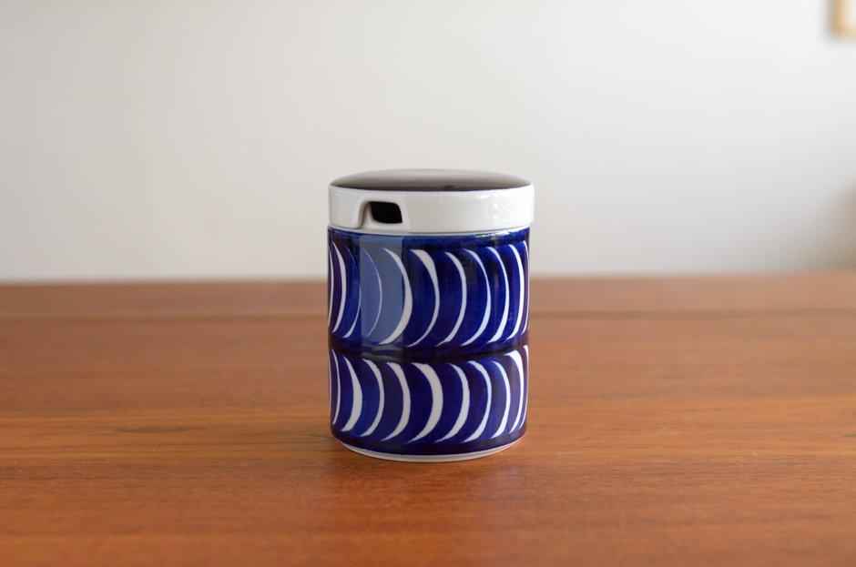 ARABIA アラビア Sininen koriste Jum Pot ジャムポット/Esteri Tomula