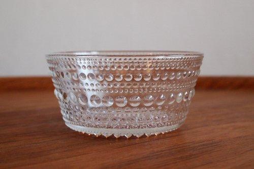 Nuutajarvi ヌータヤルヴィ Kastehelmi カステヘルミ 11cm Bowl Clear/Oiva Toikka