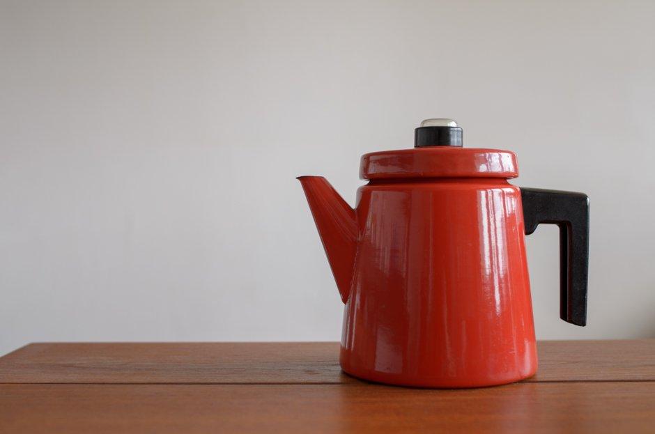 FINEL フィネル Antti Nurmesniemi アンティ・ヌルメスニエミ Coffee Pot コーヒーポット RED L 1.5L