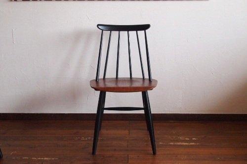 Ilmari Tapiovaara Fanett chair Black × Brown Asko イルマリ・タピオヴァラ ファネットチェア