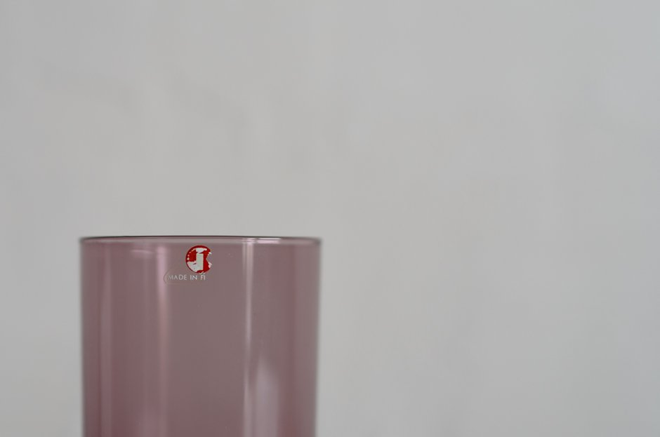 iittala Timo Sarpaneva drinking glass i-114 Purple/イッタラ ティモ・サルバネヴァ iシリーズ