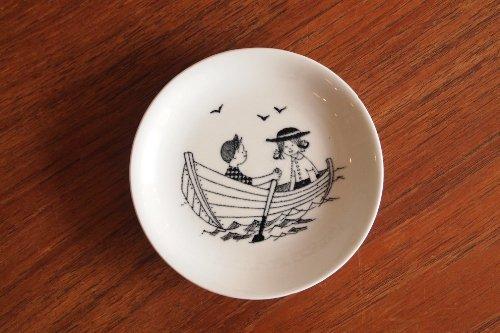 ARABIA Emilia Wall mini Plate Boat アラビア エミリア ミニプレート