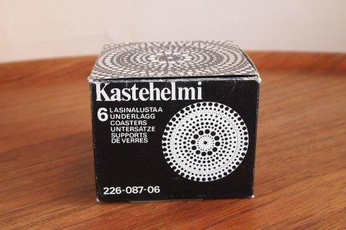 Nuutajarvi ヌータヤルヴィ Kastehelmi カステヘルミ 8.5cm ミニプレート x 6 BOX Clear/Oiva Toikka