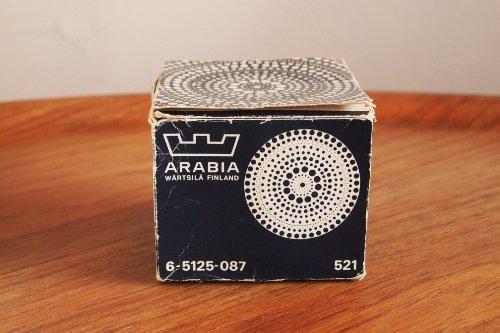 Nuutajarvi(ARABIA) ヌータヤルヴィ Kastehelmi カステヘルミ 8.5cm ミニプレート x 6 BOX Clear