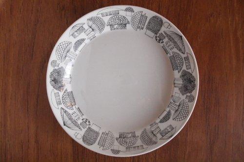 ARABIA アラビア Tatti 19cm Ceramic Plate キノコ柄 プレート/Esteri Tomula エステリ・トムラ