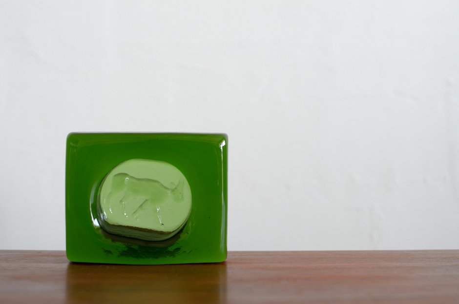 Erik Hoglund  エリック・ホグラン Green Cow ASHTRAY Square/Boda