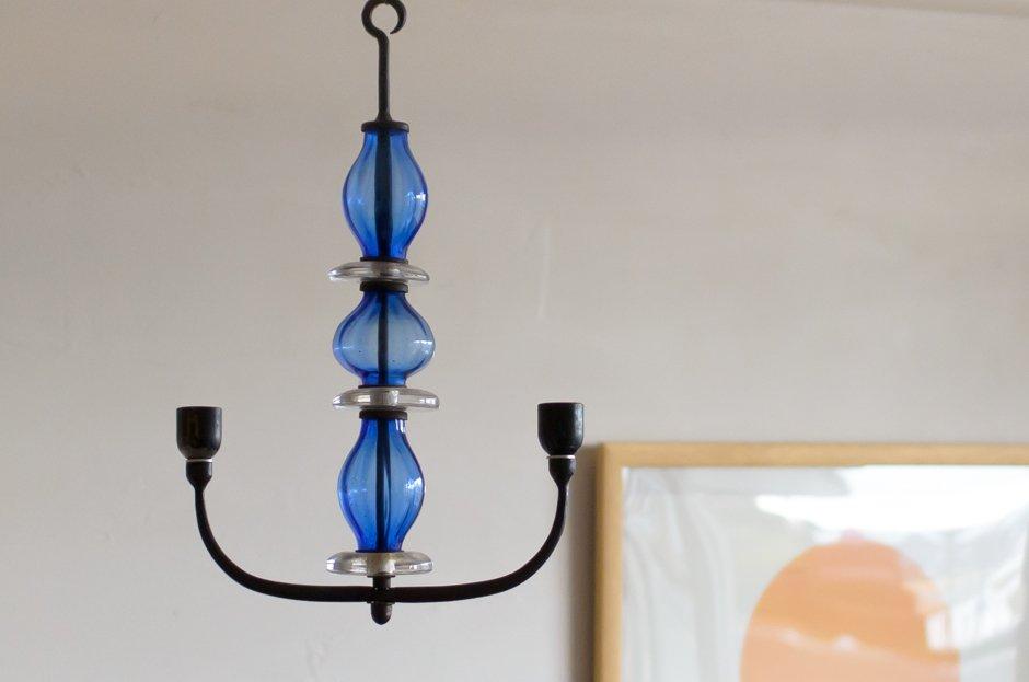 Erik Hoglund  エリック・ホグラン Blue Candle Holder/Boda