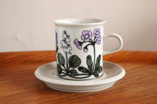 ARABIA アラビア Flora フローラ 0.16L コーヒー カップ&ソーサー/Esteri Tomula エステリ・トムラ