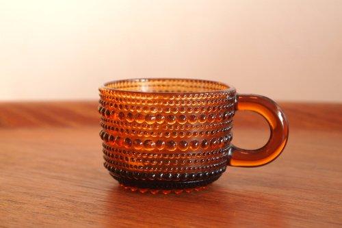 Nuutajarvi ヌータヤルヴィ Vintage Kastehelmi カステヘルミ Cup カップ ブラウン/オイバ・トイッカ
