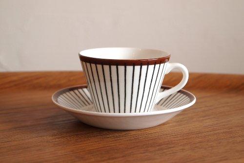Gustavsberg グスタフスベリ SPISA RIBB コーヒー カップ&ソーサー/Stig lindberg