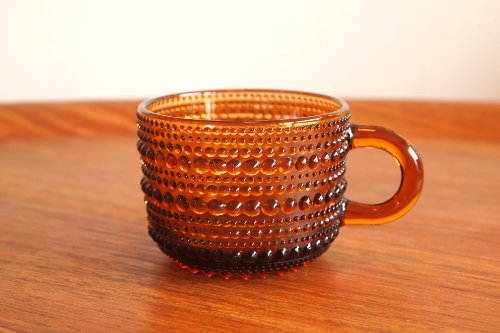Nuutajarvi ヌータヤルヴィ Vintage Kastehelmi カステヘルミ カップ ブラウン/オイバ・トイッカ
