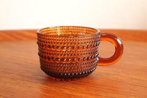 Nuutajarvi ヌータヤルヴィ Vintage Kastehelmi カステヘルミ ブラウン カップ/オイバ・トイッカ