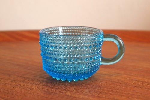 Nuutajarvi ヌータヤルヴィ Vintage Kastehelmi カステヘルミ カップ ターコイズブルー/オイバ・トイッカ