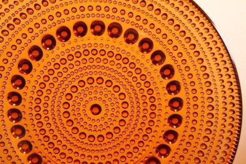 Nuutajarvi ビンテージ Kastehelmi カステヘルミ 14cm プレート ブラウン/オイバ・トイッカ