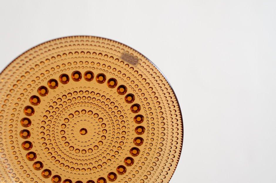 Nuutajarvi ヌータヤルヴィ Vintage カステヘルミ 14cm プレート ブラウン/オイバ・トイッカ