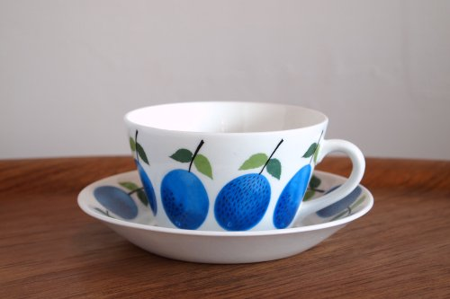訳有 Stig lindberg スティグ・リンドベリ Prunus プルヌス ティーカップ&ソーサー/グスタフスベリ