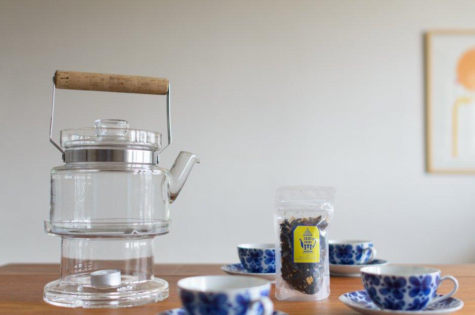 Signe Persson Melin シグネ・ペーション・メリン Glass Tea Pot & Warmer L/Boda Nova