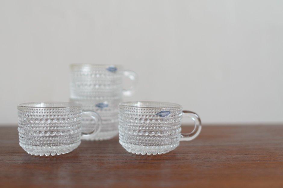 Nuutajarvi ヌータヤルヴィ Kasatehelmi カステヘルミ Vintage クリアカップ