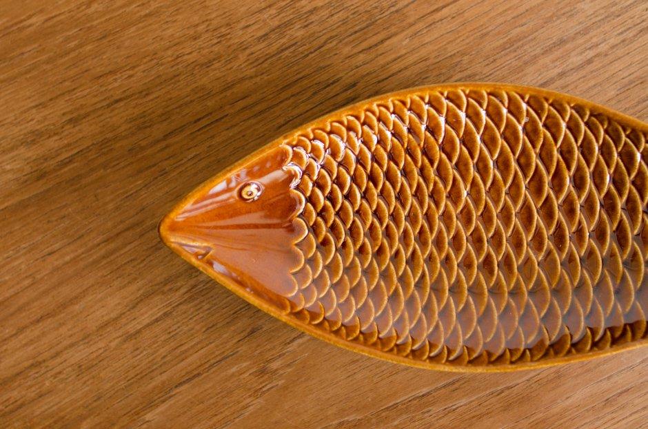 Stig Lindberg スティグ・リンドベリ Fish Plate Brown 2 Gustavsberg