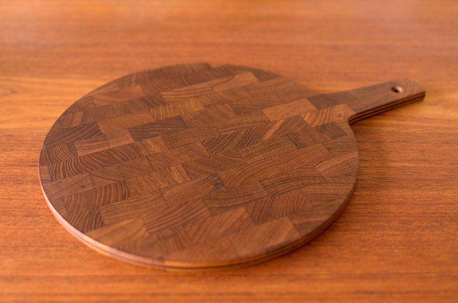 Jens H Quistgaard イェンス・クイストゴー Round Teak Cutting Board DANSK