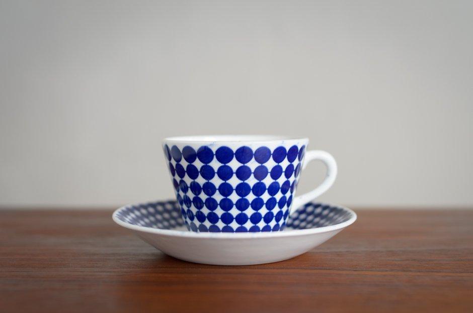 Stig Lindberg スティグ・リンドベリ Adam コーヒーカップ&ソーサー 4/Gustavsberg