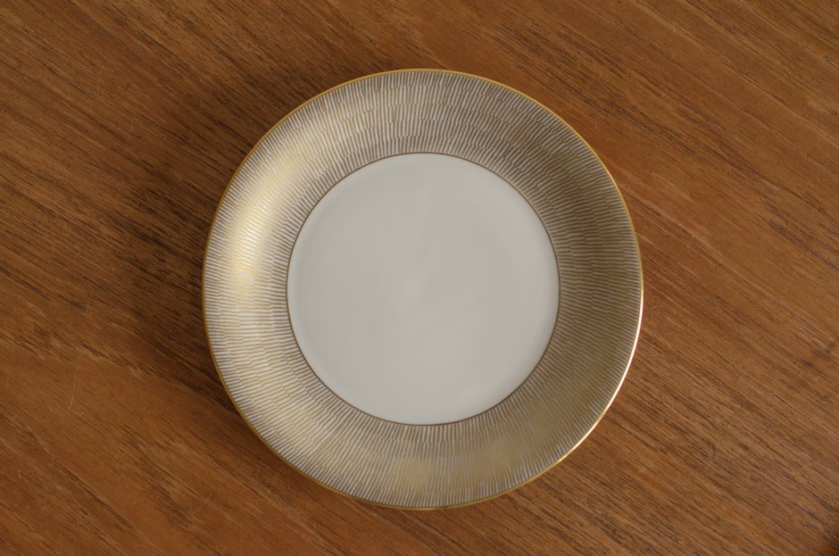 Rorstrand PRIMEUR Gold 17cm プレート/Signe Persson Melin