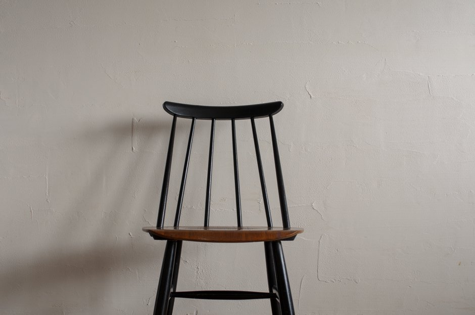 Ilmari Tapiovaara イルマリ・タピオヴァラ Fanett chair ファネットチェア Black × Brown Asko #a