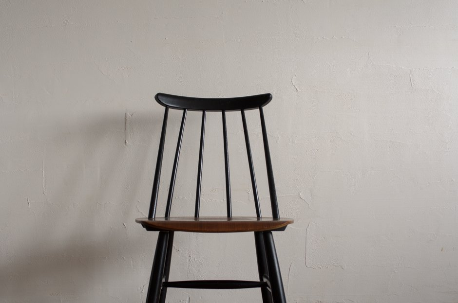 Ilmari Tapiovaara イルマリ・タピオヴァラ Fanett chair ファネットチェア Black × Brown Asko #b