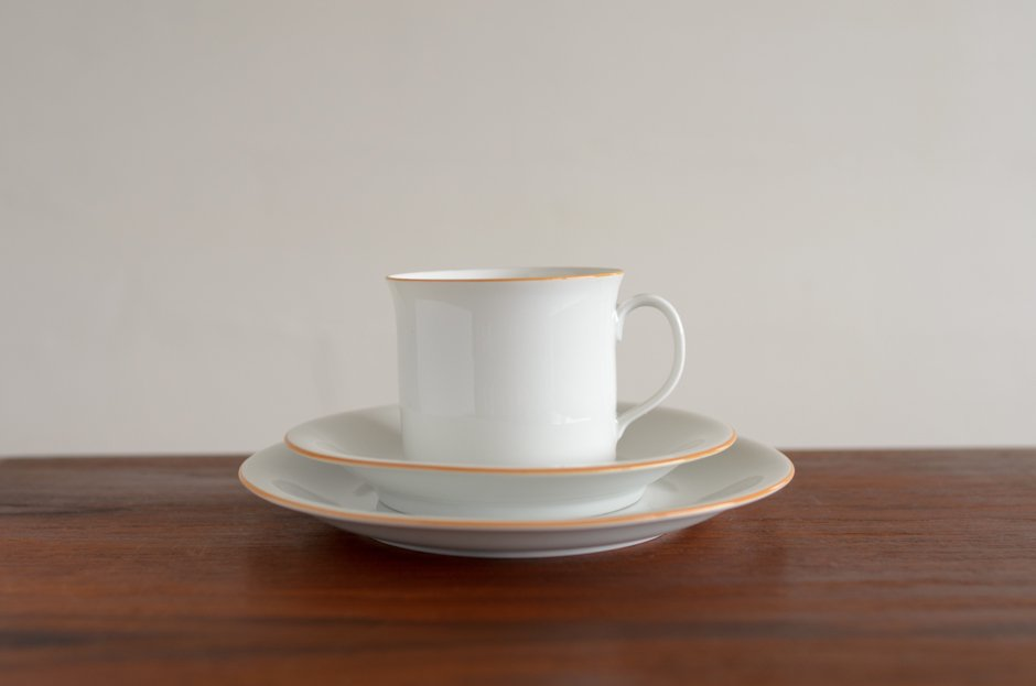 Signe Persson Melin PRIMEUR White コーヒーカップ & ソーサー & 17cmプレート #2 Rorstrand