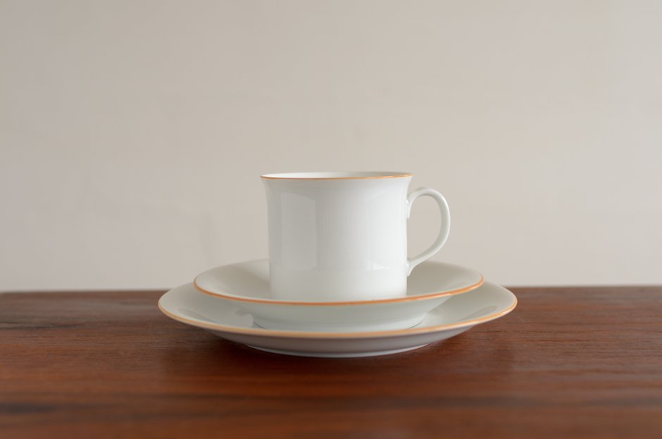 Signe Persson Melin PRIMEUR White コーヒーカップ & ソーサー & 17cmプレート #3 Rorstrand