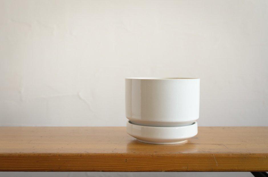 Arabia アラビア フラワーポット 植木鉢 White/SN-2 1.0L Richard Lind #2