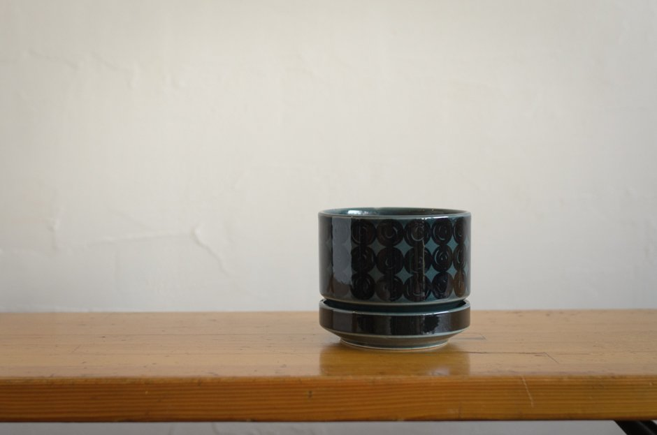 Arabia アラビア Kera フラワーポット 植木鉢 Blue SN-1 0.62L Richard Lind