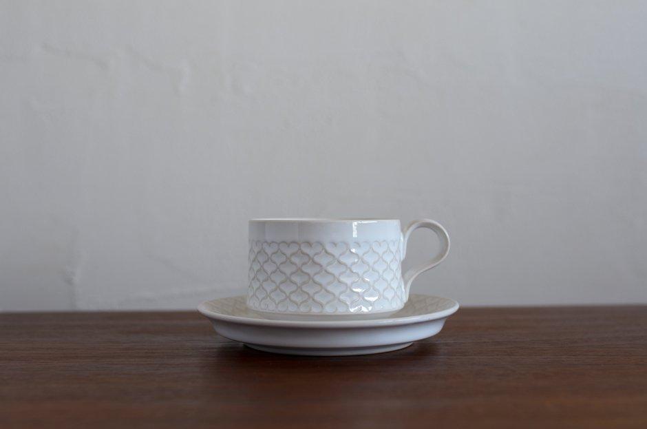Cordial コーディアル ホワイト カップ&ソーサー #1/Jens.H.Quistgaard イェンス・クイストゴー