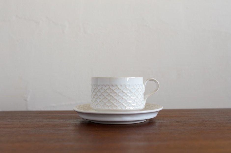 Cordial コーディアル ホワイト カップ&ソーサー #2/Jens.H.Quistgaard イェンス・クイストゴー