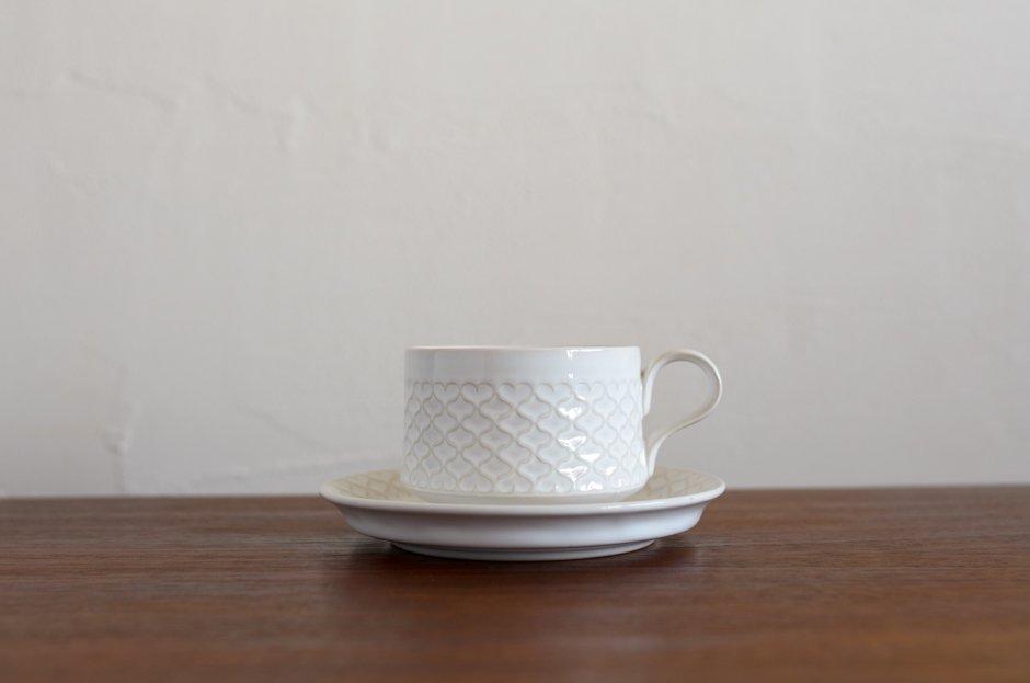 Cordial コーディアル ホワイト カップ&ソーサー #3/Jens.H.Quistgaard イェンス・クイストゴー